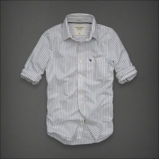 Abercrombie & Fitch Blue Mountain Mens Classic Dress Shirt NEW Muscle