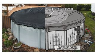 Drain Round Above Ground Winter Swimming Pool Cover 15yr WRTY