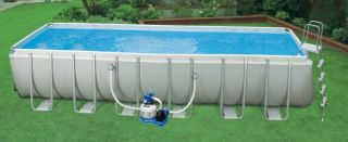 24 x 12 x 52 Ultra Frame Rectangular Swimming Pool Set  54979EG