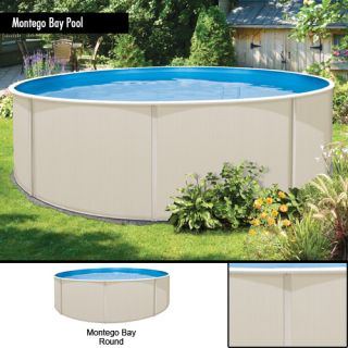 24x48 Round Montego Bay Above Ground Swimming Pool w Cartridge