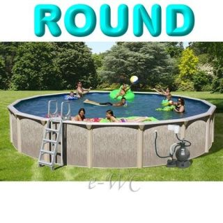 30 Brown Above Ground Round Swimming Pool Package