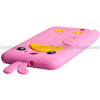 Plum Red Cute Cartoon Chicken Silicone Case Cover for Samsung Galaxy