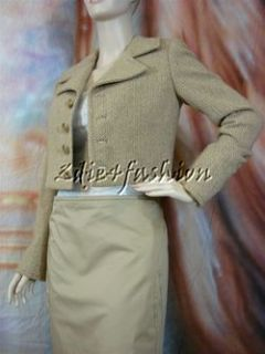 Collection Purple Label Brown Wool Cashmere Crop Jacket 6