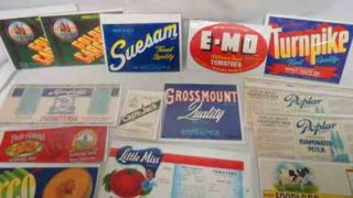 20 Vintage Canned & Crate Food Labels * MILK Tomatos CALIFORNIA FRUIT