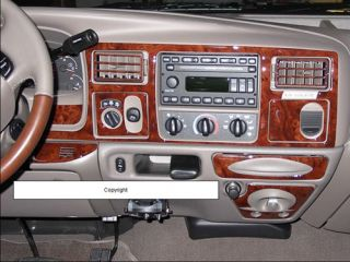 Ford Excursion 2000 2001 2002 Wood Carbon Dash Trim Kit