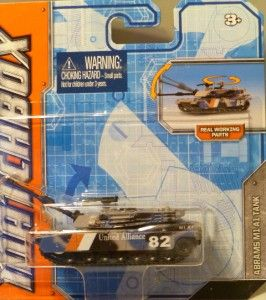 Matchbox 2012 Abrams M1 A1 Tank Camo Real Working Rigs