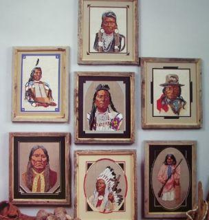 Portrait of Famous American Indians Cross Stitch Book