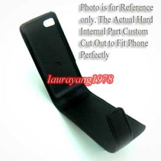Black Leather Case Cover for Samsung S7230E Wave 723