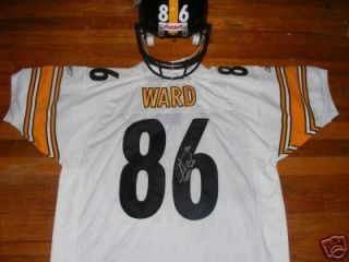 HINES WARD PITTSBURGH STEELERS SIGNED JERSEY SUPER BOWL XL MVP INSCR W