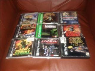 Lot of 12 PS1 Games Sony PlayStation Tomb Raider Rainbow Six Bushido
