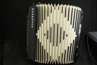 Marrazza Italian 120 Bass Piano Accordion w Case