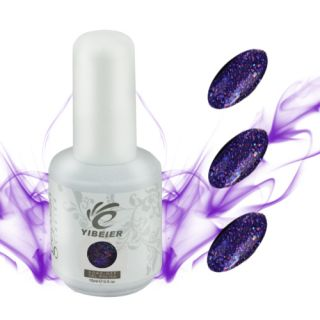 UV Acrylic Nail Art Polish Soak Off Plum Glitter Colorful Gel Polish