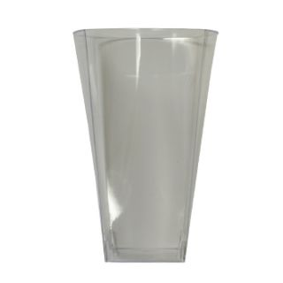 14 Ounce Square Plastic Drinking Glasses Cup Case 168