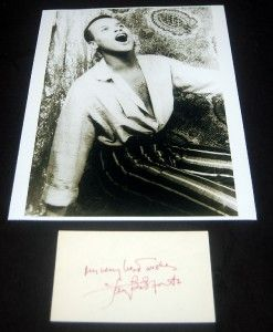 Actor Singer Civil Rights Activist Harry Belafonte Signed Card and