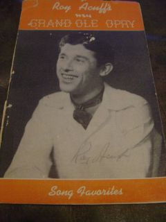 Roy Acuff Grand Ole Opry Booklet with 10 Autographs