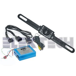 Acura Factory Radio Navigation Video Adapter w License Plate Rear View