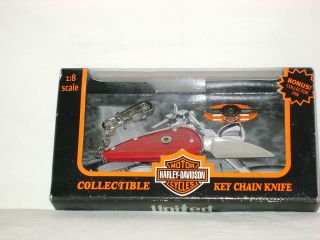 Harley Davidson HD Collectible Keychain United Cutlery Knife Pin New