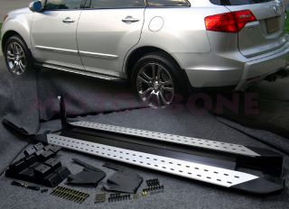 07 09 Acura MDX Side Step Running Board Rail Nerf Bar Kit Direct Fit