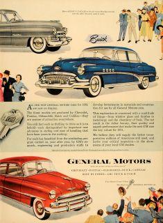 1951 Ad General Motors Pontiac Buick Chevrolet Cadillac