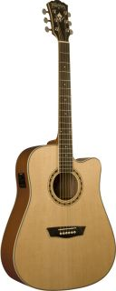 Pro Quality Washburn Spruce Acoustic Electric Guitar WD10SCE