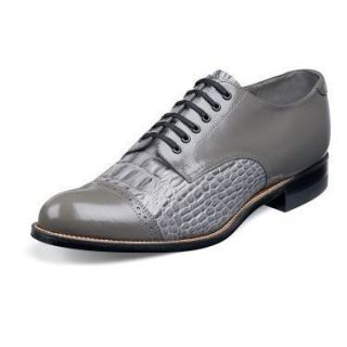 Stacy Adams Madison Mens Gray Leather Shoe 00034 020