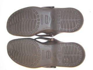 Crocs Adara Criss Cross Slides Sandals Black Womens Size 10