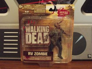 AMC THE WALKING DEAD RV ZOMBIE SERIES TWO ACTION FIGURE CASE FRESH