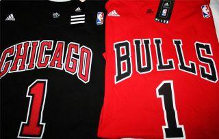 Adidas Chicago Bulls Derrick Rose Game Time T Shirt