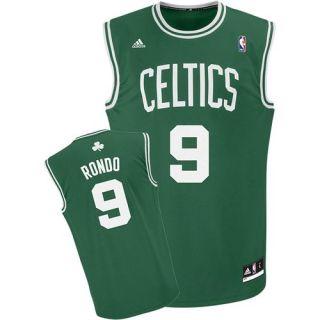 Boston Celtics Rajon Rondo Green/White Road Replica Jersey sz XL