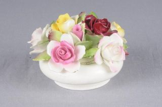 ROYAL ADDERLEY Bone China Floral Roses Figurine