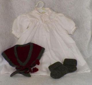 American Girl Doll Addys Nightgown Shawl Slippers New