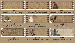 Primitive Pennyrug Return Address Labels 9 Designs Personalized Custom