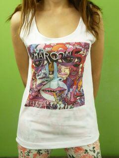 Maroon 5 Band Adam Levine Ad Album Cover Womens Tank Top Sleeveless T