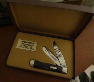 Case XX Adolph Rupp Collectible Trapper Knife w original box Kentucky