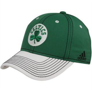 BOSTON CELTICS NBA SHAMROCK LOGO FLEXFIT GRN WHI HAT CAP Sz LRG XL NWT