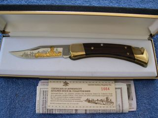 KNIVES 110 LIMITED EDITION ADOLPHUS BUSCH SR BUDWEISER KNIFE MINT