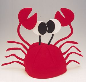 Adult Child Red Novelty Lobster Crab Hat Costume Cap