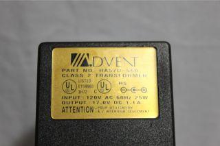 item advent wireless speaker ac adapter part ha57u 560 tested yes