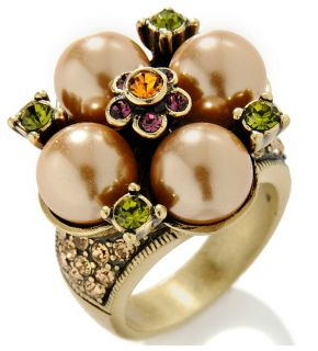 Heidi Daus Cluster of Color Crystal Ring Size 7