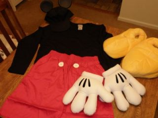 Disney Mickey Mouse Costume for Adult Large L New