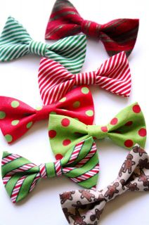 Dog Cat Bow Tie Holiday Christmas xmas Red Green Ready to Wear on