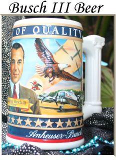 Budweiser Adolphus Busch III 2003 State Convention Stein Anheiser