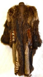 Adrienne Landau Fur Coat   Full Length   Mixed fur Mink, Fox