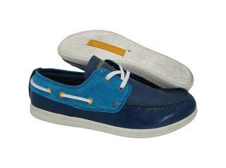 New Diesel Mens Tropical Estate Blue Methyl B Boat shoes US 13