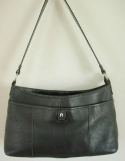 Etienne Aigner Black Leather Purse Handbag Shoulder Bag