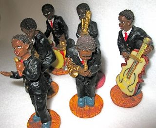 Figurines African American Jazz Band Great Collectible Set