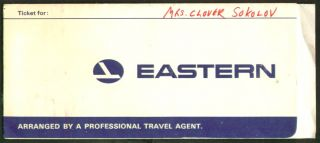 Eastern Airlines Ticket Wrap Bag Check Boarding Pass