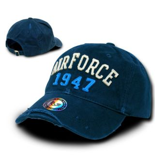Navy Blue Vintage Style Air Force 1947 USAF Military Baseball Cap Hat