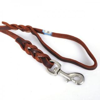 New 3M Long Leather Braided Pet Dog Training Leash Lead