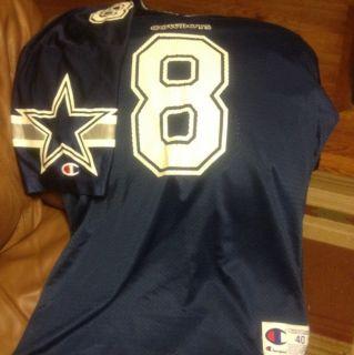 Vintage 90s Troy Aikman Dallas Cowboys 8 Champion Jersey Mens Size 40